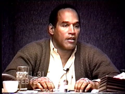 OJ Simpson's civil trial deposition 130PM 2/22/96 Questions about Nicole's alleged excessive drinking and drug use