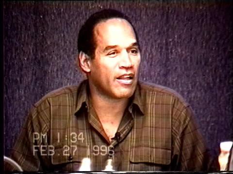 OJ Simpson's civil trial deposition 133PM 2/27/96 Questions about the discussions OJ had with his friends about the state of the reconciliation with...