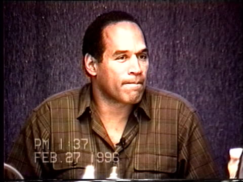 OJ Simpson's civil trial deposition 135PM 2/27/96 Questions about OJ's sleep habits details about the weekend of the murder and 'the disguise' in...