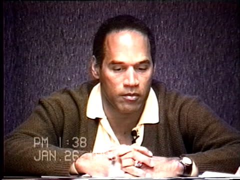 OJ Simpson's civil trial deposition 136PM 1/26/96 Play by play of what happened the morning after the murders starting with call from LAPD notifying...