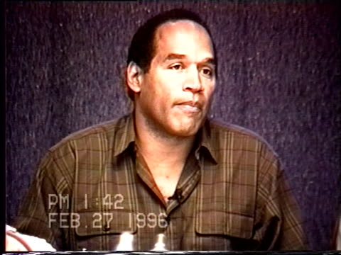 OJ Simpson's civil trial deposition 141PM 2/27/96 Questions about the IRS letter OJ wrote and the topic of Nicole's depression