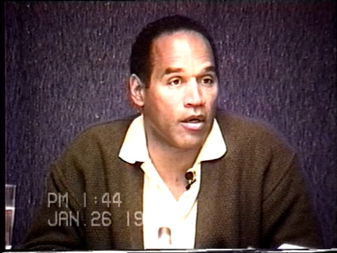 OJ Simpson's civil trial deposition 143PM 1/26/96 Play by play of what happened the morning after the murders starting with call from LAPD notifying...