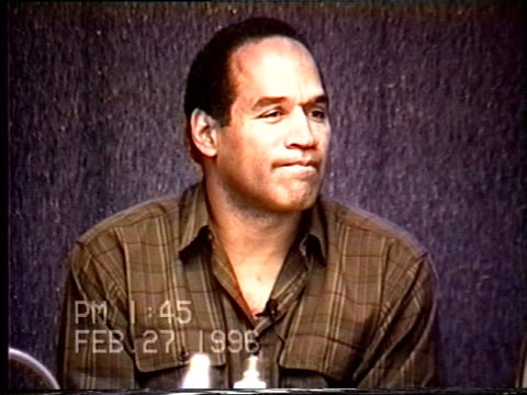 OJ Simpson's civil trial deposition 144PM 2/27/96 Questions concerning the details of OJ's morning on June 17th
