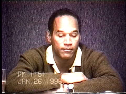OJ Simpson's civil trial deposition 149PM 1/26/96 Play by play of what happened the morning after the murders starting with call from LAPD notifying...