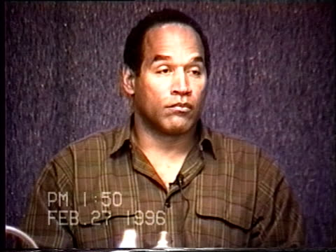 OJ Simpson's civil trial deposition 149PM 2/27/96 Questions about Mother's Day 1994 including Sean Brown's christening and the final breakup with...