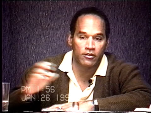 OJ Simpson's civil trial deposition 155PM 1/26/96 Play by play of what happened the morning after the murders starting with call from LAPD notifying...