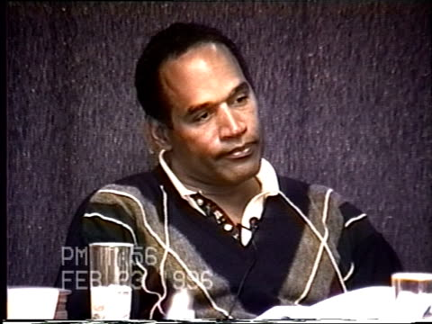 OJ Simpson's civil trial deposition 155PM 2/23/96 Questions about whether OJ had 'molded' Nicole into the woman she became