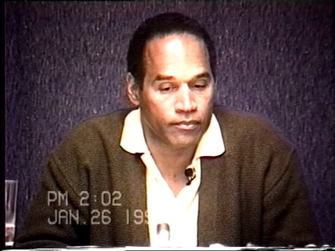 OJ Simpson's civil trial deposition 200PM 1/26/96 Play by play of what happened the morning after the murders starting with call from LAPD notifying...