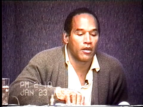 OJ Simpson's civil trial deposition 209 PM 1/23/96 Details of OJ hitting golf balls on his property the night of the murders