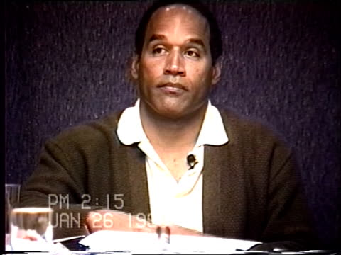 OJ Simpson's civil trial deposition 213PM 1/26/96 Play by play of what happened the morning after the murders starting with call from LAPD notifying...