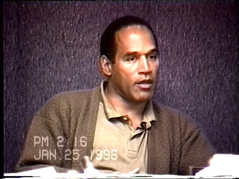 OJ Simpson's civil trial deposition 214PM 1/25/96 Questions about OJ's encounter with Nicole and Keith Zlomsowitzh at the restaurant Tryst