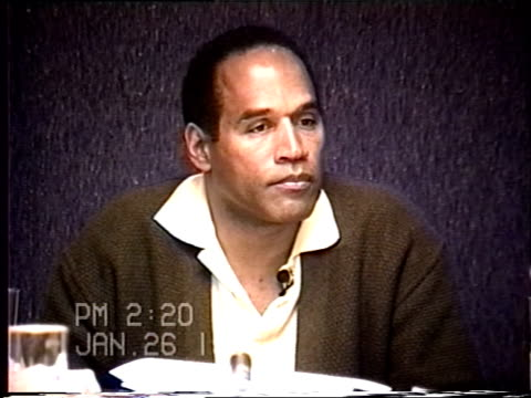 OJ Simpson's civil trial deposition 219PM 1/26/96 Play by play of what happened the morning after the murders starting with call from LAPD notifying...