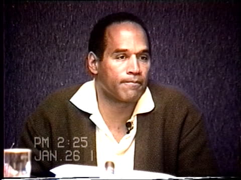 OJ Simpson's civil trial deposition 224PM 1/26/96 Play by play of what happened the morning after the murders starting with call from LAPD notifying...