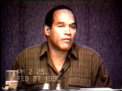 OJ Simpson's civil trial deposition 224PM 2/27/96 Questions about OJ and Nicole's timeline leading up to the murders
