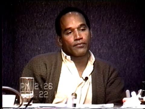 OJ Simpson's civil trial deposition 225PM 2/22/96 Questions about how often Nicole hit OJ