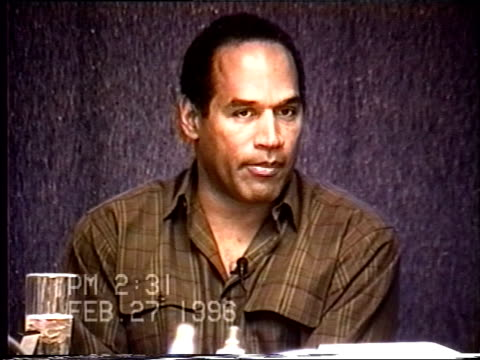 OJ Simpson's civil trial deposition 230PM 2/27/96 Questions about OJ and Nicole's timeline leading up to the murders