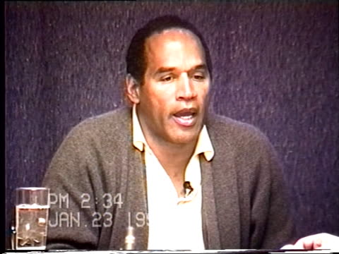 OJ Simpson's civil trial deposition 233 PM 1/23/96 Questions about the clothes OJ wore to and from Los Angeles