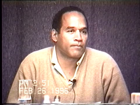 OJ Simpson's civil trial deposition 249PM 2/26/96 Questions about OJ's activities the night after the murders when he had returned from Chicago and...