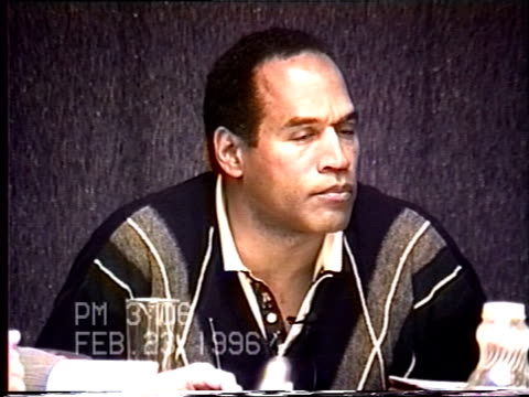 OJ Simpson's civil trial deposition 305PM 2/23/96 Questions about Nicole's actions after leaving Mezzaluna on the night of her murder