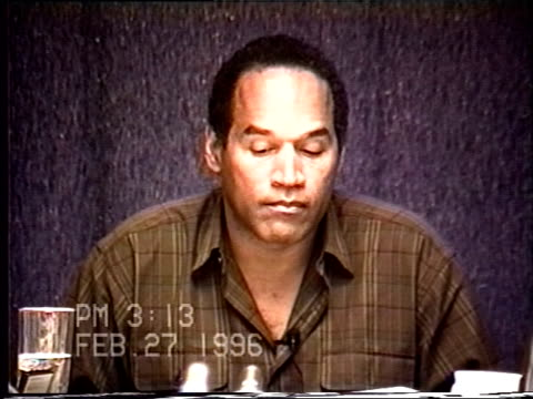OJ Simpson's civil trial deposition 312PM 2/27/96 Questions about the final days of OJ and Nicole leading up to the murders