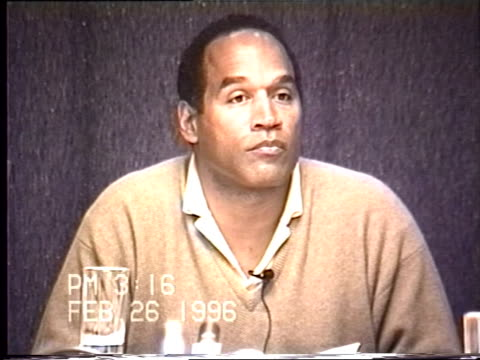 OJ Simpson's civil trial deposition 315PM 2/26/96 More details about the Keith Zlomsowitzh incident in which OJ witnessed Nicole engaged in oral sex