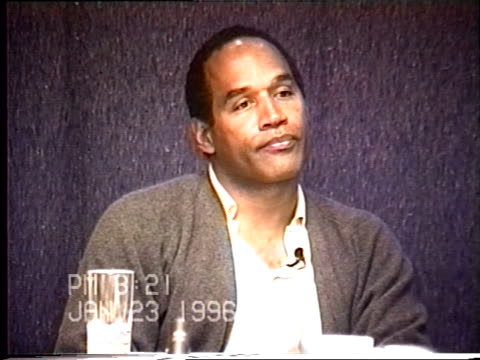 OJ Simpson's civil trial deposition 320 PM 1/23/96 Questions concerning the play by play of OJ getting ready to leave in Alan Park's limo and talking...