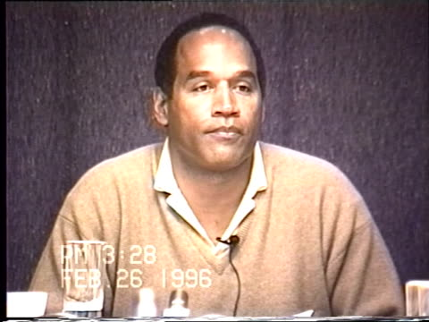 OJ Simpson's civil trial deposition 327PM 2/26/96 Questions about the conversation OJ had with Reverend Rosey Greer while in jail and includes OJ's...