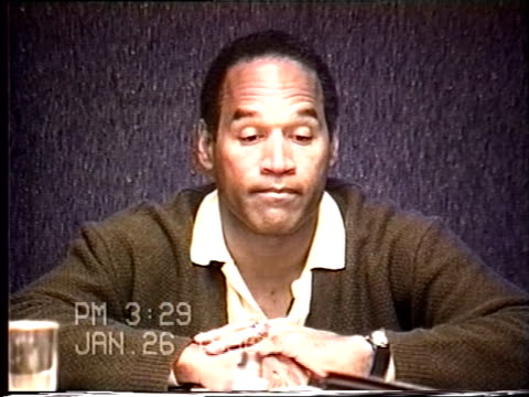 oj simpson's civil trial deposition 328pm 1/26/96 questions about the movie frogmen and whether oj received training during the filming - interrogation stock videos & royalty-free footage