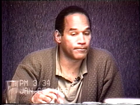 OJ Simpson's civil trial deposition 332PM 1/25/96 Questions about OJ stalking Nicole and his state of mind over the last two years from the divorce...