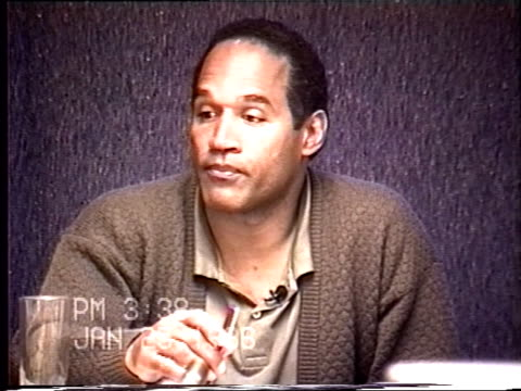 OJ Simpson's civil trial deposition 337PM 1/25/96 Questions about OJ stalking Nicole and his state of mind over the last two years from the divorce...