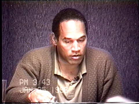 OJ Simpson's civil trial deposition 342PM 1/25/96 Questions about OJ stalking Nicole and his state of mind over the last two years from the divorce...