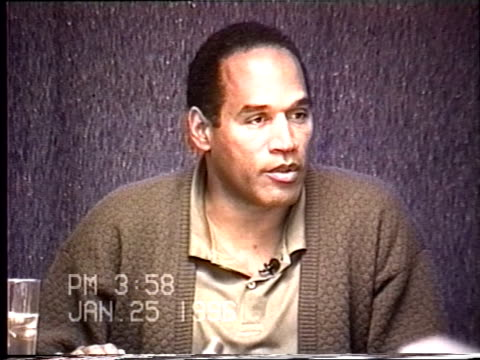OJ Simpson's civil trial deposition 357PM 1/25/96 Questions about the end of OJ and Nicole's attempted reconciliation including more about Keith and...