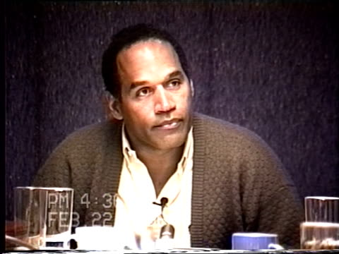 oj simpson's civil trial deposition 435pm 2/22/96 questions about whether oj is an obsessive and controlling person - obsessive stock videos & royalty-free footage