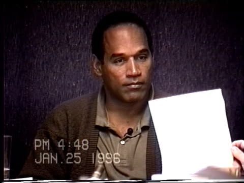 OJ Simpson's civil trial deposition 447PM 1/25/96 Questions about letter OJ sent to Nicole for IRS purposes