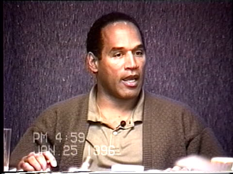 OJ Simpson's civil trial deposition 458PM 1/25/96 Questions about the OJ and Nicole's relationship during the final 30 days before the murders