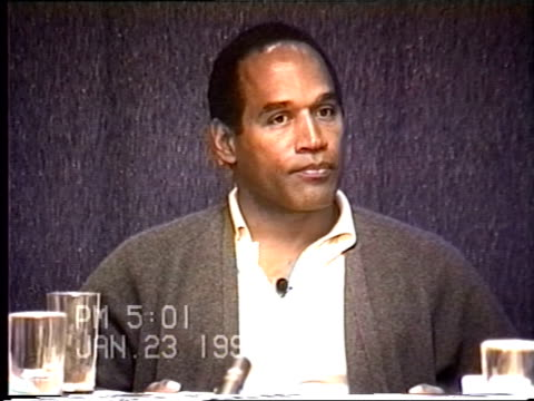 OJ Simpson's civil trial deposition 459 PM 1/23/96 Questions about the limo driver Park and the conversations that took place as well as clarifying...