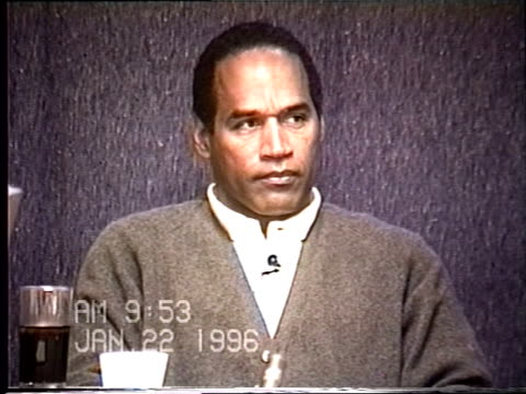 OJ Simpson's civil trial deposition 952 AM 1/22/96 Questions about existing materials notes and video
