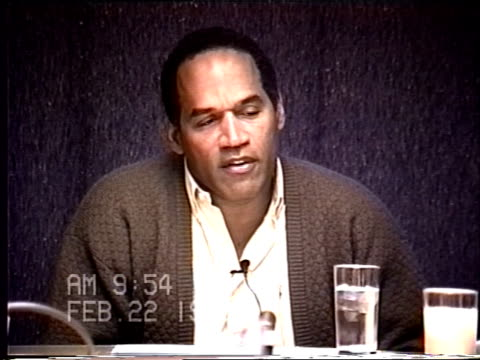 OJ Simpson's civil trial deposition 953AM 2/22/96 Questions about how OJ met Nicole and his divorce from Marguerite