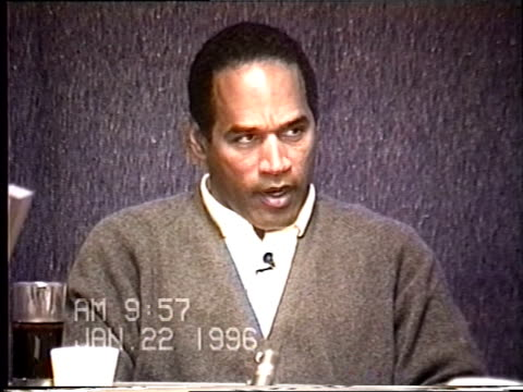 OJ Simpson's civil trial deposition 956 AM Questions about existing materials notes and video