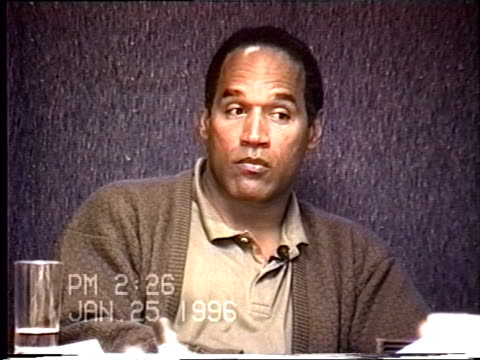 OJ Simpson's civil trial deposition