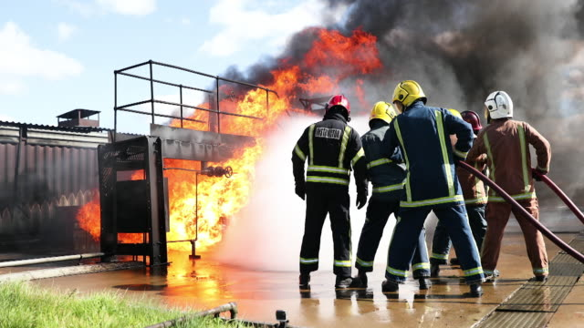 simulated fire - county durham england stock videos & royalty-free footage