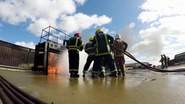 simulated fire - darlington north east england stock videos & royalty-free footage