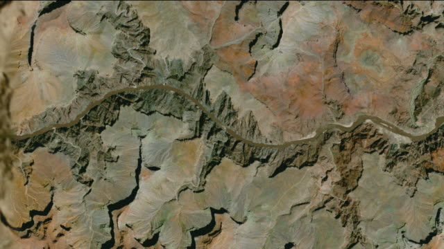 t/l ws zo simulated zoom out from grand canyon to earth orbit, grand canyon, arizona, usa - grand canyon stock-videos und b-roll-filmmaterial