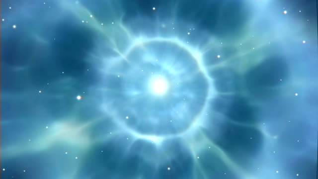 a simulation (artists impression) of the veil supernova explosion - 超新星点の映像素材/bロール