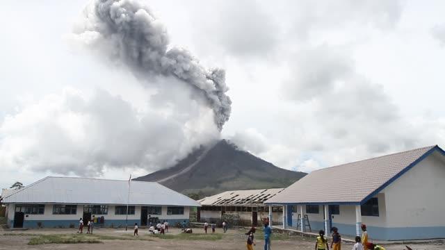 Sinabung Eruption in North Sumatra