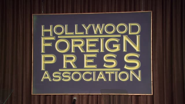 sinage at the hollywood foreign press association's cecil b demille award recipient announcement at beverly hills ca - cecil b. demille stock videos & royalty-free footage