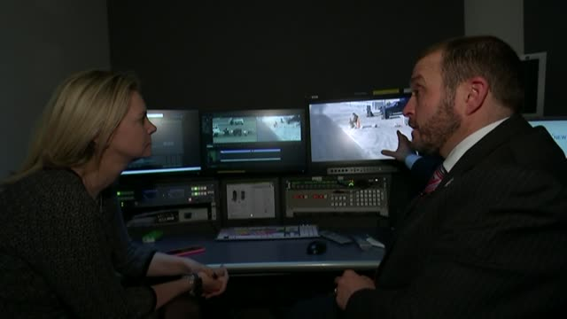 russia suspends flights as bomb suspicions grow int abigail de garis interview sot/ london lee dodderidge interview as sitting in edit suite comments... - kogalymavia flug 9268 stock-videos und b-roll-filmmaterial