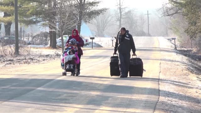 since donald trump became us president there has been a wave of migrants crossing the border from the us to canada - national border stock videos & royalty-free footage