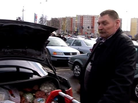 since the weakening of the zloty, increasing numbers of lithuanians are hopping over the border into poland to do their shopping. - 50 seconds or greater stock videos & royalty-free footage