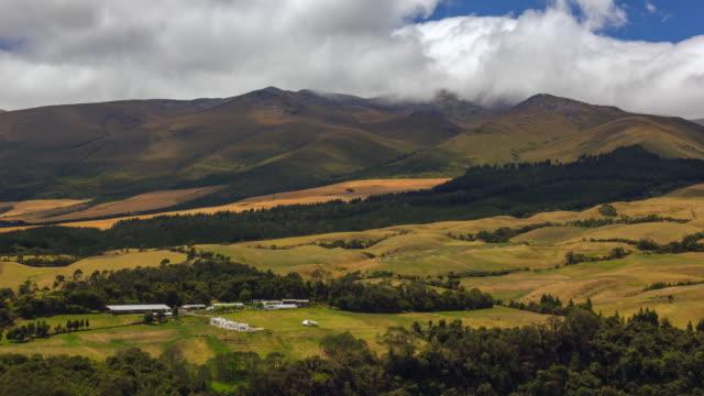 Sincholagua Volcano in the Ecuadorian Andes, time-lapse. At 4,873m Sincholahua is the 12th highest peak in Ecuador.